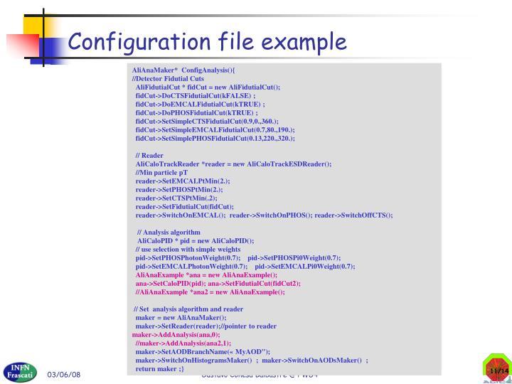 Configuration file example
