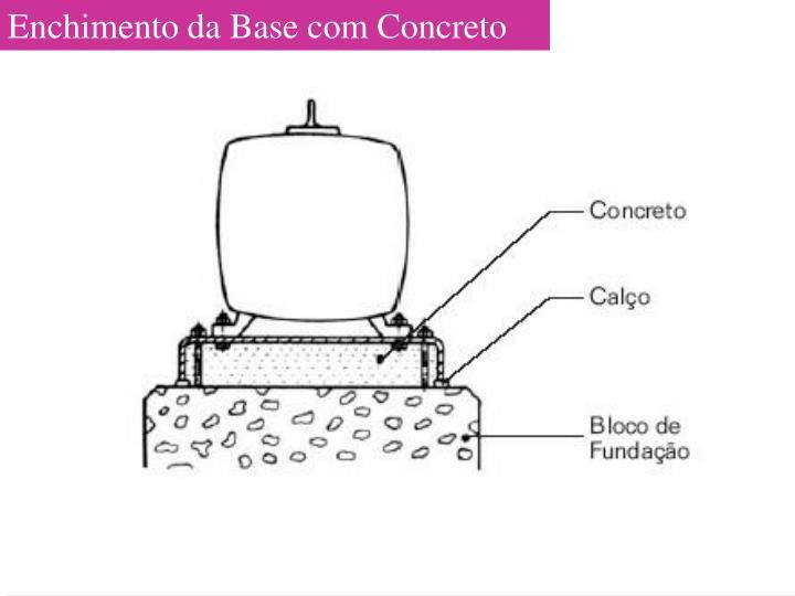 Enchimento da Base com Concreto