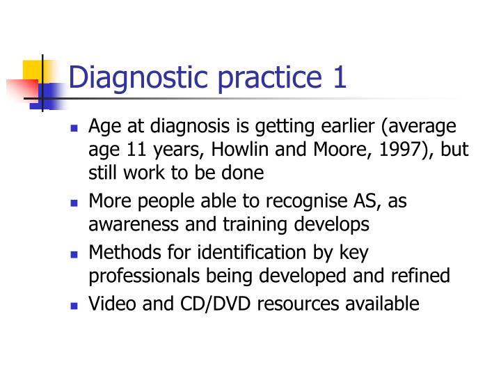 Diagnostic practice 1