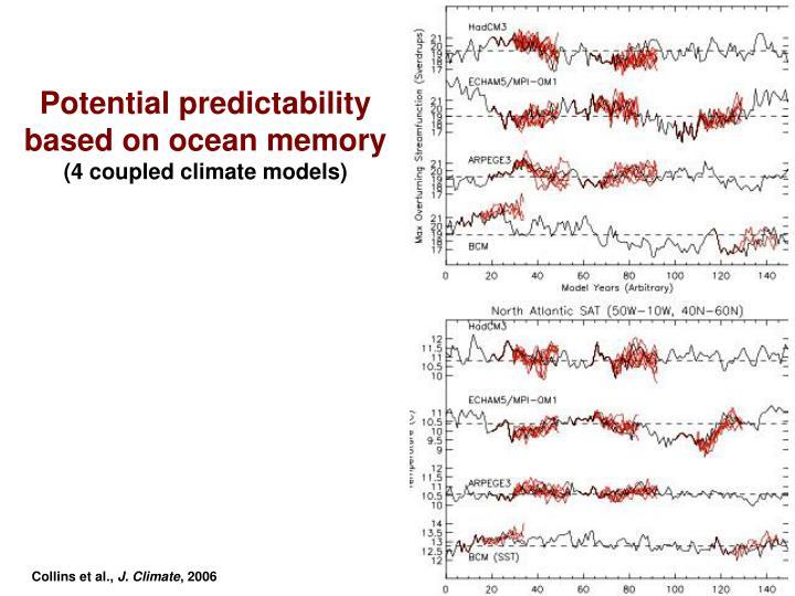 Potential predictability based on ocean memory