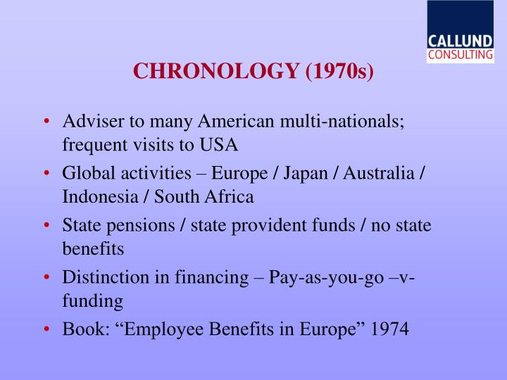 Chronology 1970s