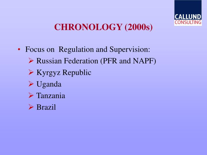 CHRONOLOGY (2000s)