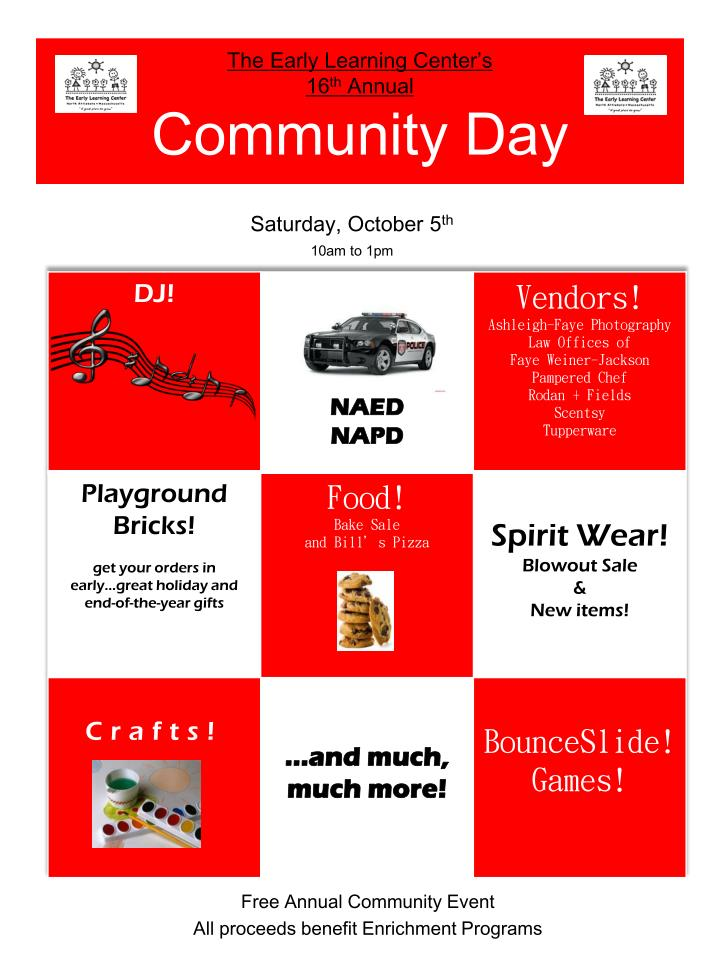 The early learning center s 16 th annual community day