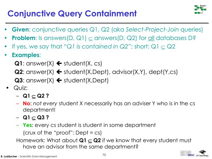 Conjunctive Query Containment