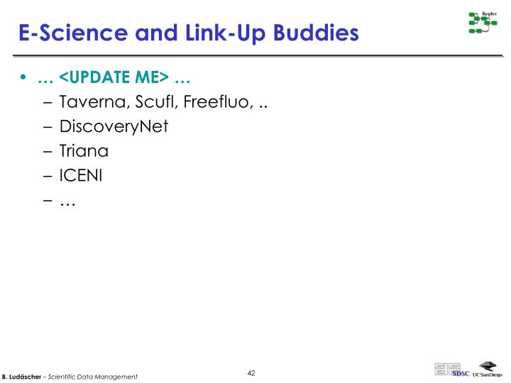 E-Science and Link-Up Buddies