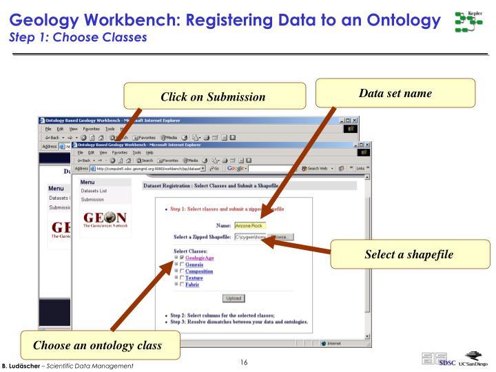 Choose an ontology class