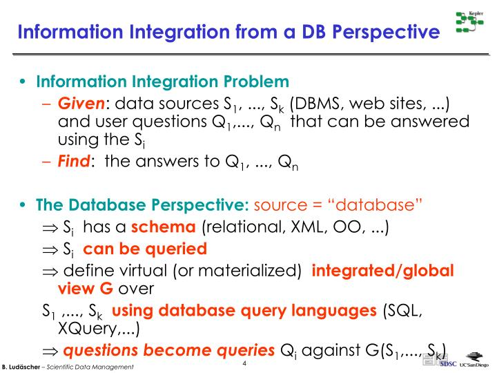 Information Integration from a DB Perspective