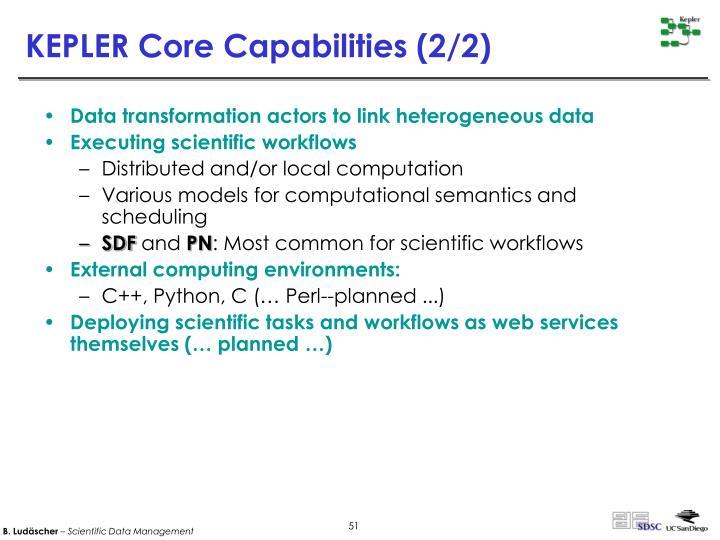 KEPLER Core Capabilities (2/2)