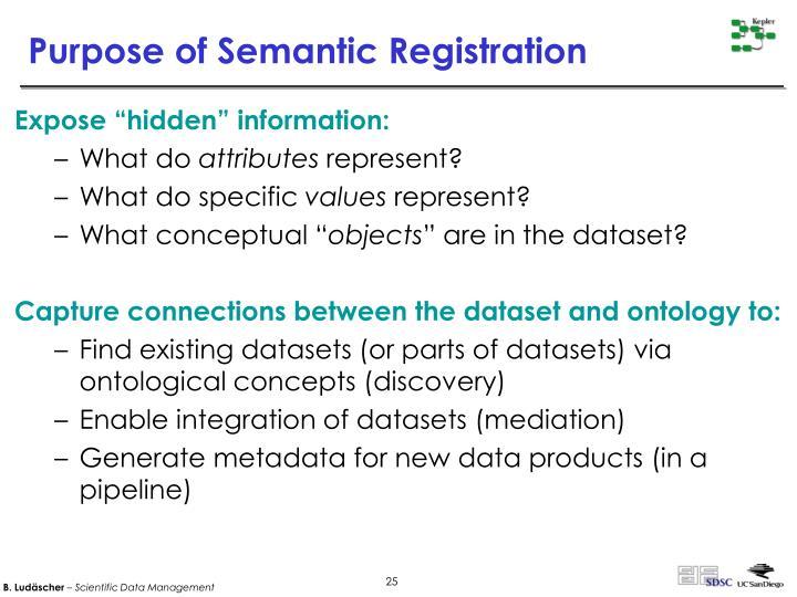 Purpose of Semantic Registration