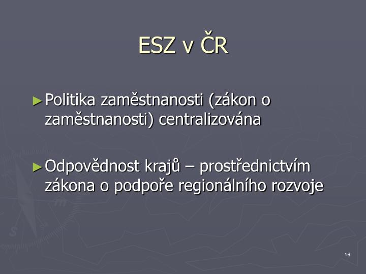 ESZ v ČR