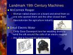 landmark 19th century machines