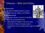 takeover myth and history