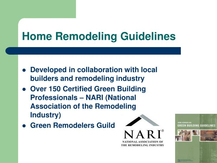Home Remodeling Guidelines