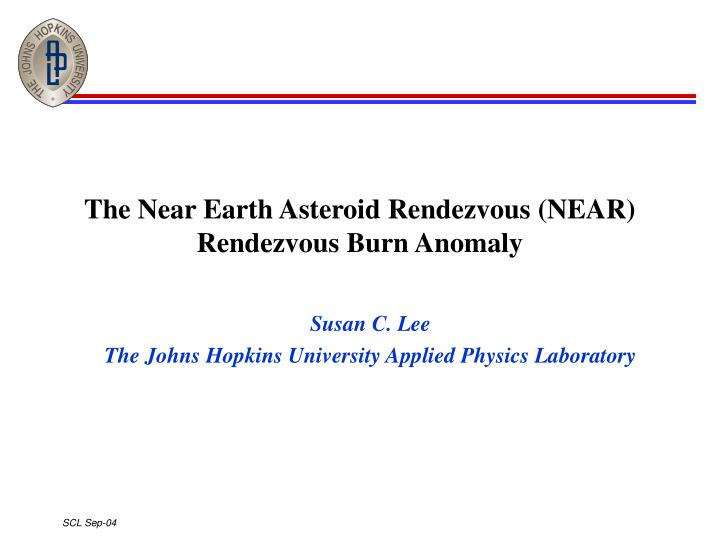 the near earth asteroid rendezvous near rendezvous burn anomaly n.
