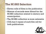 the m1883 selection