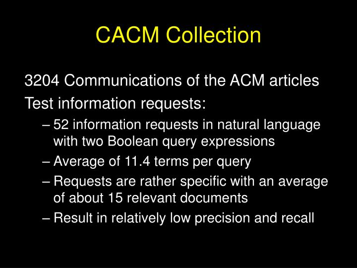 CACM Collection
