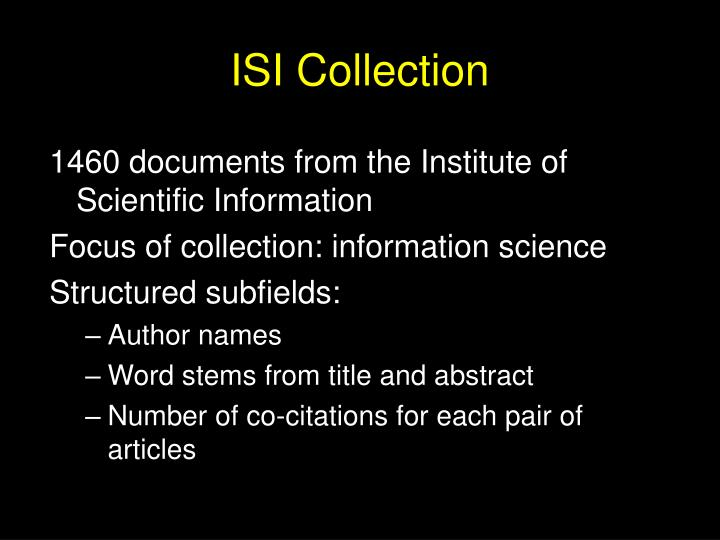 ISI Collection