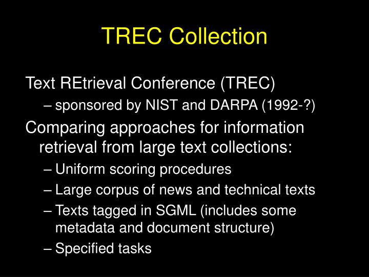 Trec collection
