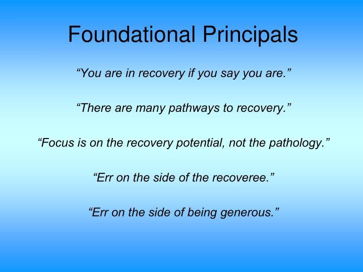 Foundational Principals