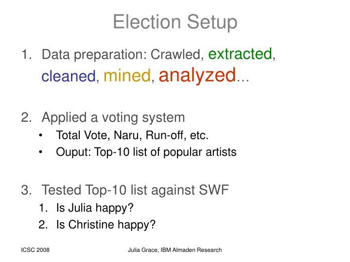 Election Setup