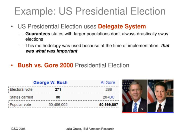 Example: US Presidential Election