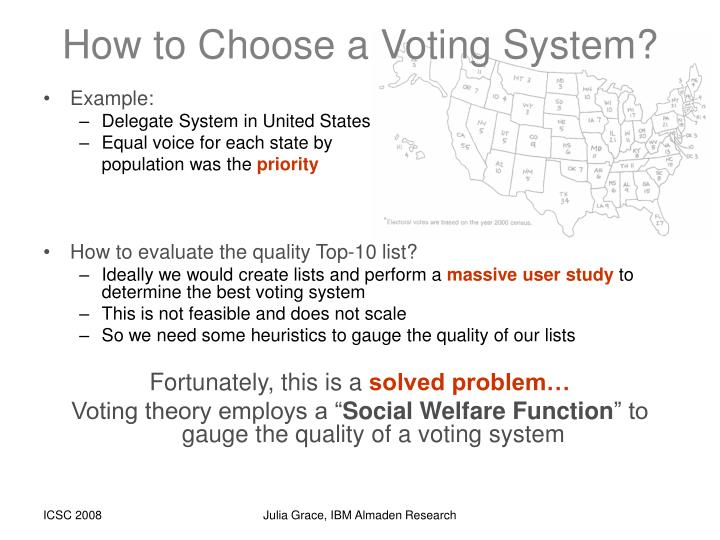 How to Choose a Voting System?