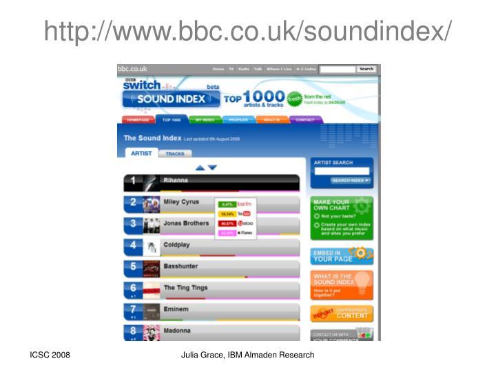 http://www.bbc.co.uk/soundindex/
