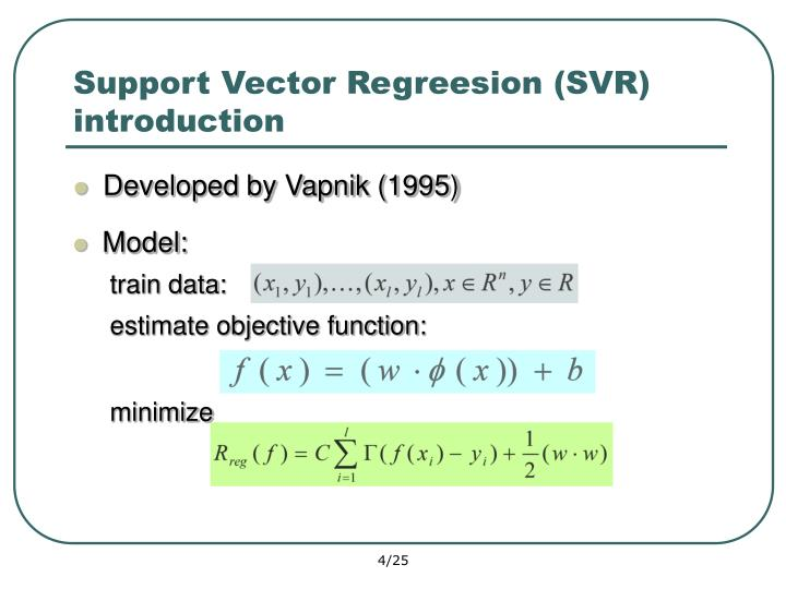 Support Vector Regreesion (SVR)  introduction