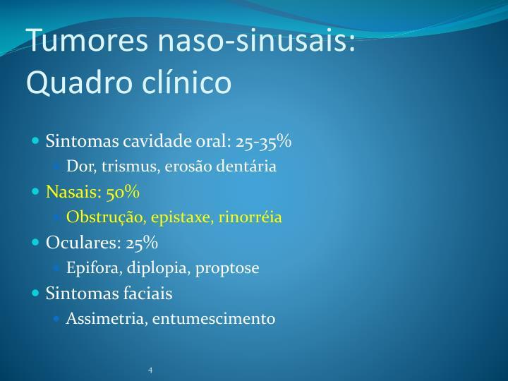 Tumores naso-sinusais: