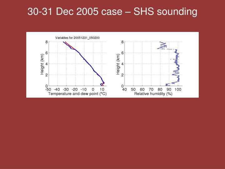 30-31 Dec 2005 case – SHS sounding