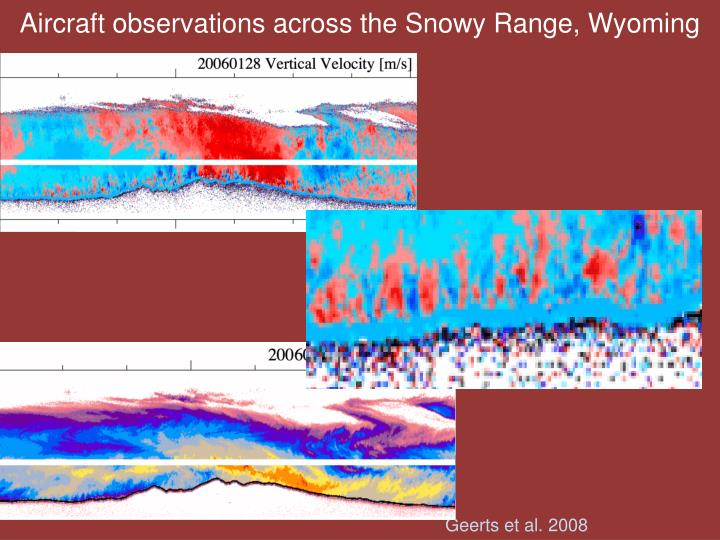 Aircraft observations across the Snowy Range, Wyoming
