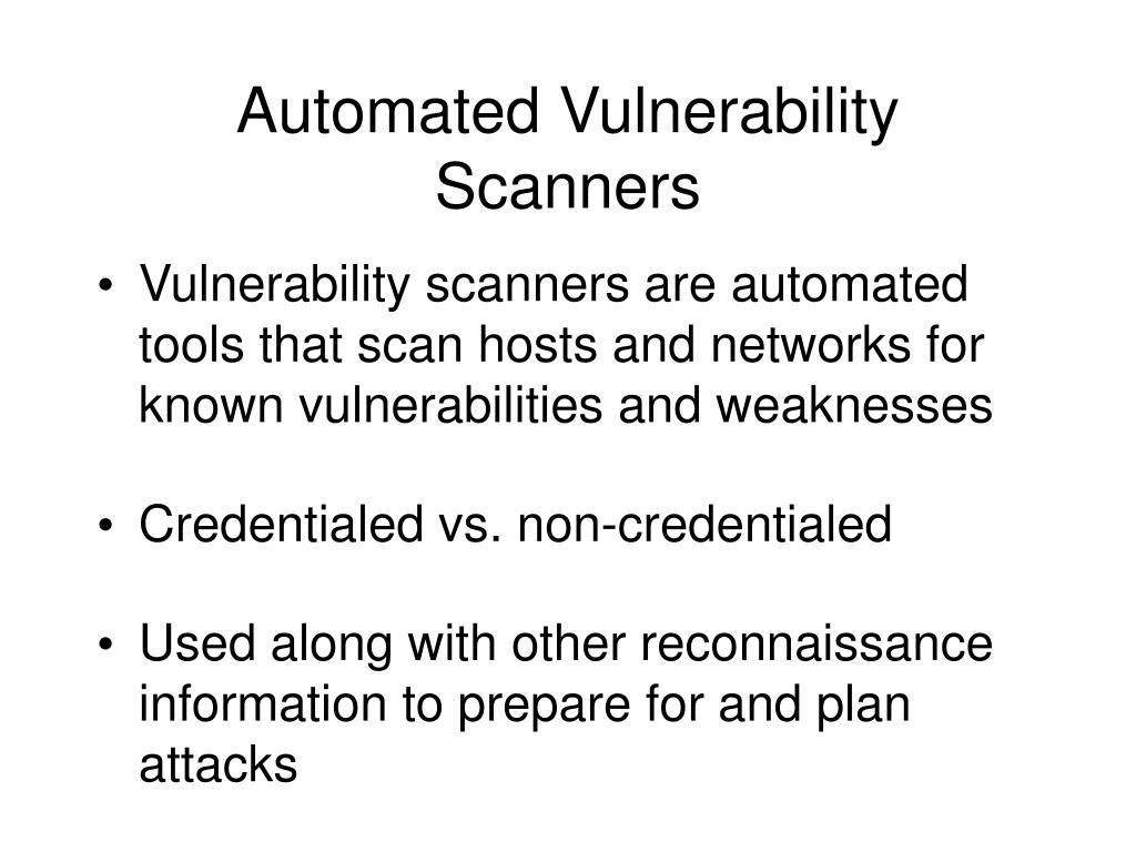 PPT - Vulnerability Scanning PowerPoint Presentation - ID:4403154