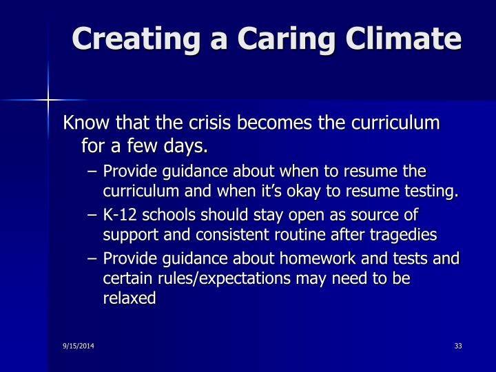 Creating a Caring Climate