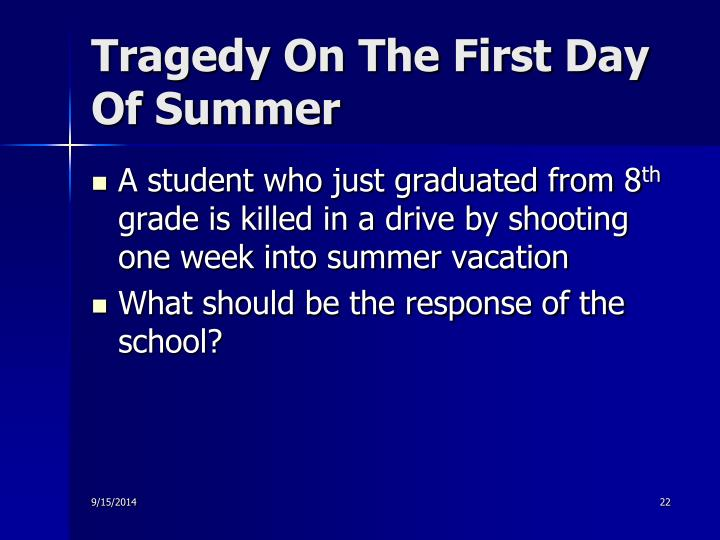 Tragedy On The First Day Of Summer