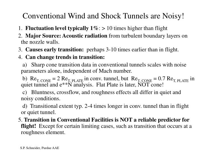 Conventional Wind and Shock Tunnels are Noisy!