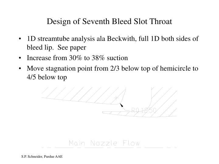 Design of Seventh Bleed Slot Throat