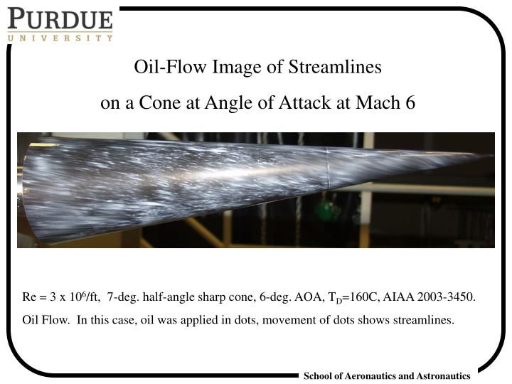 Oil-Flow Image of Streamlines