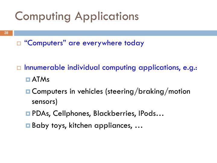Computing Applications