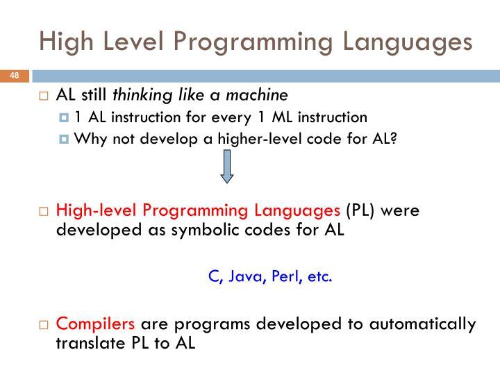 High Level Programming Languages