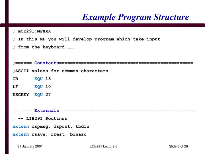 Example Program Structure