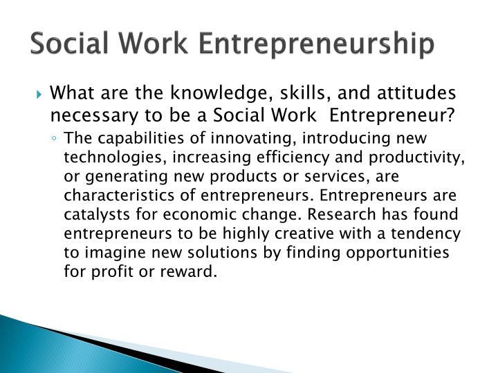 Social Work Entrepreneurship