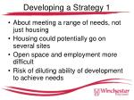 developing a strategy 1