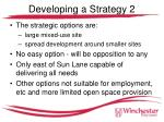 developing a strategy 2