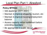 local plan part 1 alresford