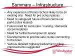 summary infrastructure