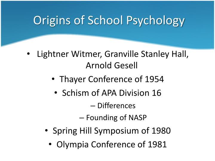 Origins of school psychology