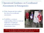 operational guidance on coordinated assessments in emergencies