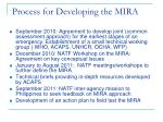 process for developing the mira