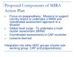 proposed components of mira action plan
