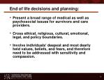end of life decisions and planning